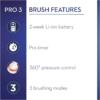 Kép 6/6 - Oral-B PRO 3 3500 Sensi Ultrathin elektromos fogkefe + Utazótok - Fehér