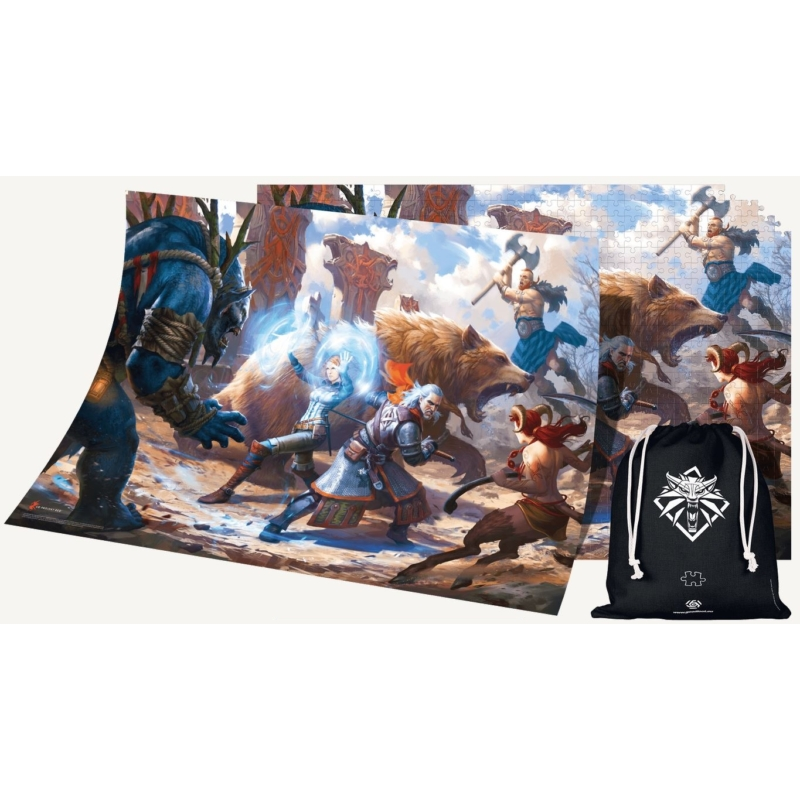 Good Loot The Witcher Geralt & Triss in Battle 1000 darabos Puzzle