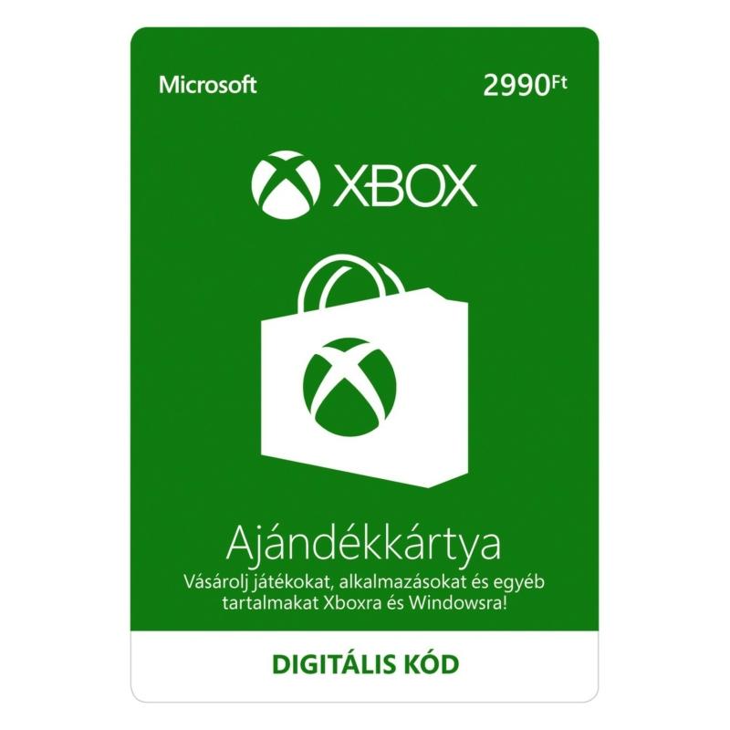 2990 forintos Microsoft XBOX ajándékkártya digitális kód
