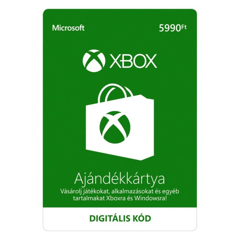 5990 forintos Microsoft XBOX ajándékkártya digitális kód