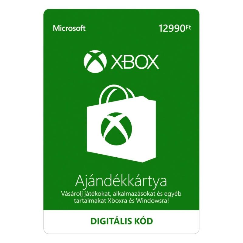 12990 forintos Microsoft XBOX ajándékkártya digitális kód