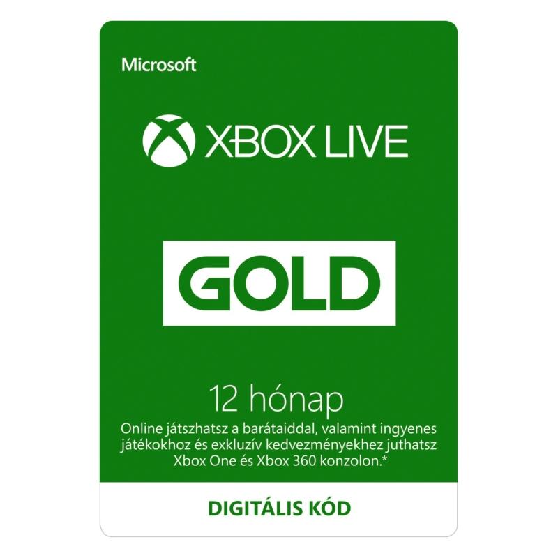 XBOX Live Gold 12 hónapos előfizetés (Digitális kód)