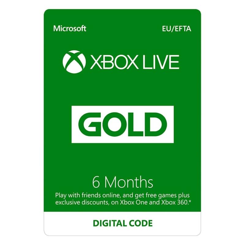 XBOX Live Gold 6 hónapos előfizetés (Digitális kód)