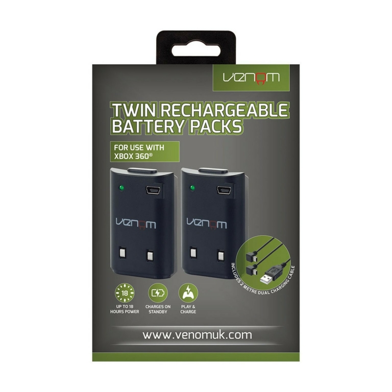 Venom Twin Rechargeable Battery Pack Black