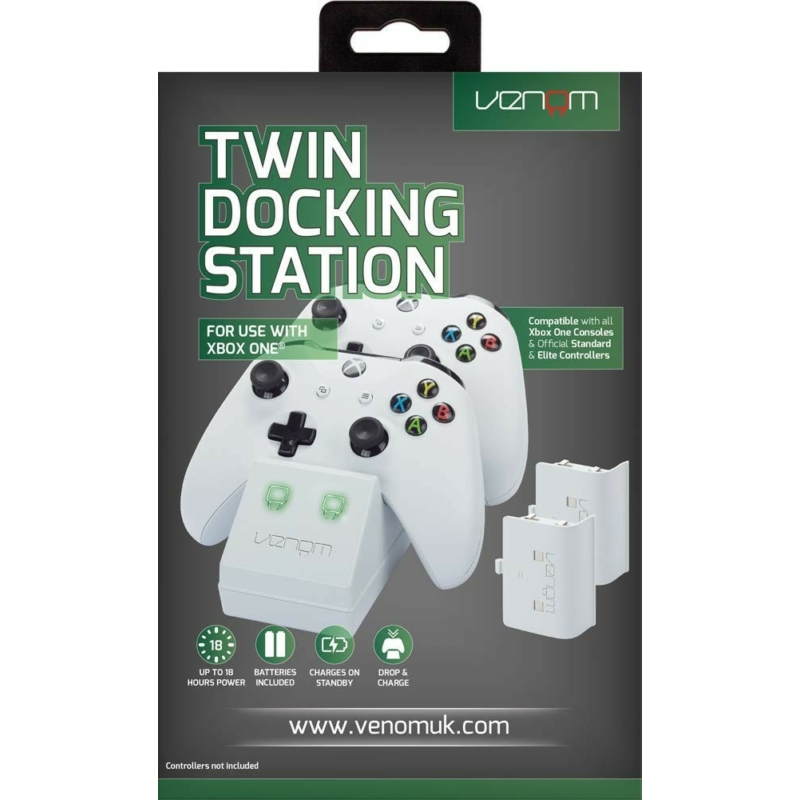 Venom Twin Docking Station White