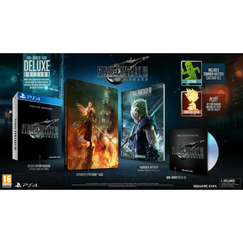 Final Fantasy VII Remake Deluxe Edition (PS4)