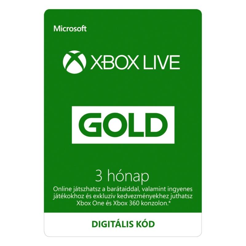 XBOX Live Gold 3 hónapos előfizetés (Digitális kód)