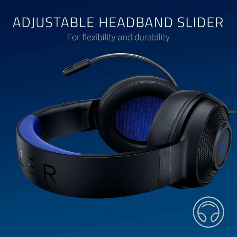 Razer Kraken X for Console Gaming Headset - Fekete/Kék (RZ04-02890100-R3M1)