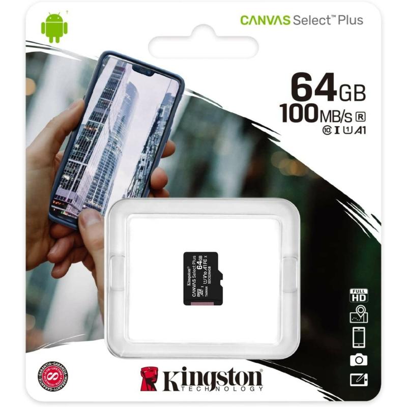 Kingston Micro SDHC Canvas Select Plus 64GB UHS-I U1