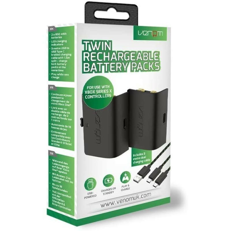 Venom Twin Battery Packs Black (Xbox Series)