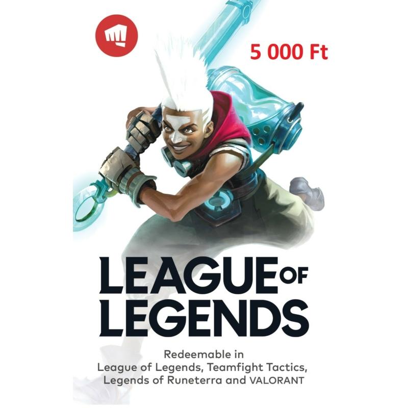 Riot Games feltöltőkártya 5000 Ft