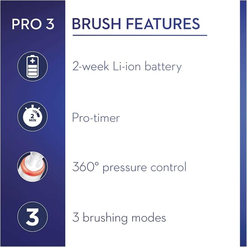 Oral-B PRO 3 3500 Sensi Ultrathin elektromos fogkefe + Utazótok - Fehér